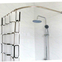 Stainless Steel Curved Shower Curtain Poles Rod Rail BATH Bathroom Products BATH Accessories Supplies PLUS SIZE