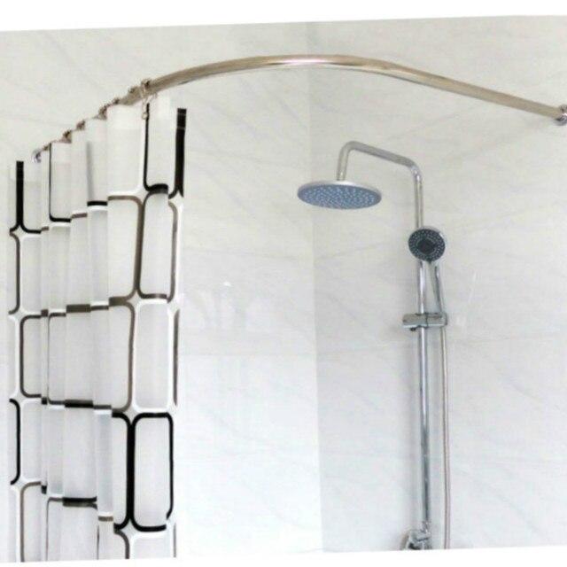 acier inoxydable douche courbée rideau pôle tige rail salle de bains