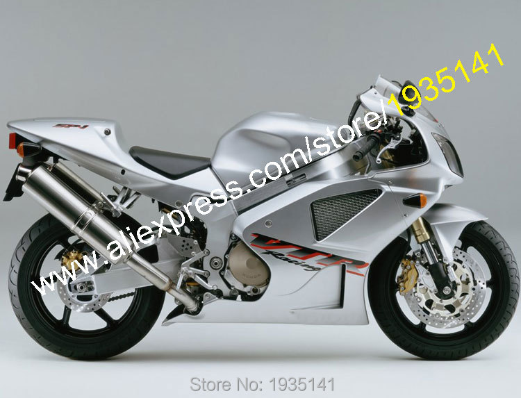 Hot Sales,For Honda VTR1000 SP1 SP2 RC51 00-07 VTR 1000 2000 2001 2002 2003 2004 2005 2006 2007 Silver ABS Motorcycle Fairing hot sales for honda vtr1000f 97 05 1997 1999 2000 2001 2002 2003 2004 2005 vtr1000 f vtr 1000 f 1000f full red fairings