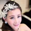 Free Shipping! Handmade White Crystal And Pearl Bridal Hairpin Jewelry  Wedding Hair accessory
