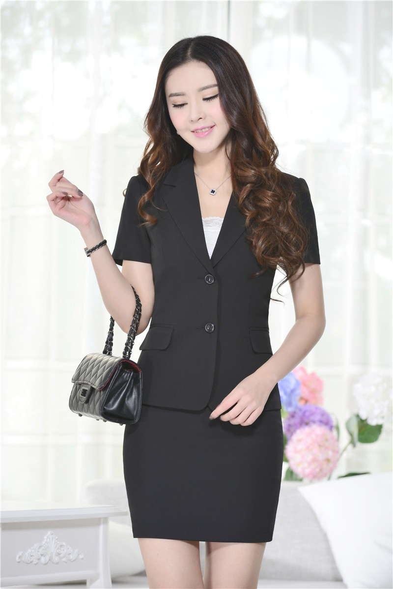 983a33bbc4feb Professional Business Women Work Suits With Jackets And Skirt Formal OL  Styles Slim Fashion Beauty Salon Outfits Blazers Set-in Skirt Suits from ...