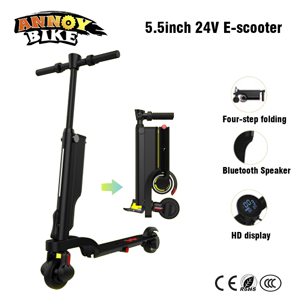 5.5 pouces 24 V e-bike Mini électrique vélo Scooter adulte intelligent léger coup de pied pliant vélo conduite voiture 30 km kilométrage Long Hoverboard