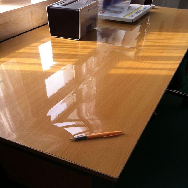 Soft glass table cloth tablecloth pvc waterproof transparent crystal scrub dianban circle dining table mat
