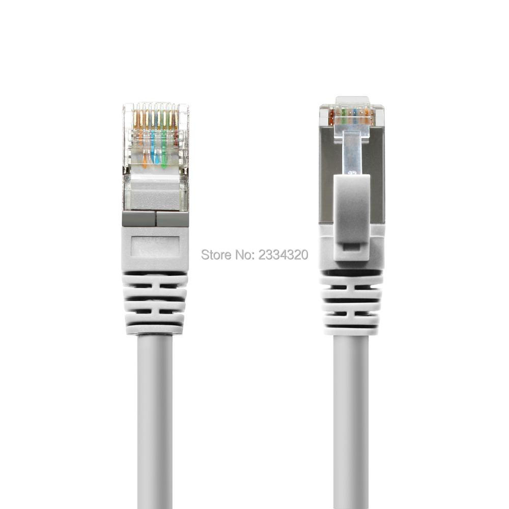 CAT7 10 Gigabit 600MHz Ethernet Patch Cable for Modem Router LAN Network - Built with Go ...