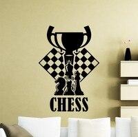 جديد وصول قطع شطرنج الشطرنج قطع الشطرنج صائق الجدار ملصق جدارية غرفة المعيشة التصميم الداخلي للماء أي غرفة الفينيل ملصقا