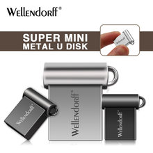 Metal USB flash drive pendrive super mini 128gb 64gb 32gb 16gb memory stick pen drive 8gb 4gb key ring U disk(China)
