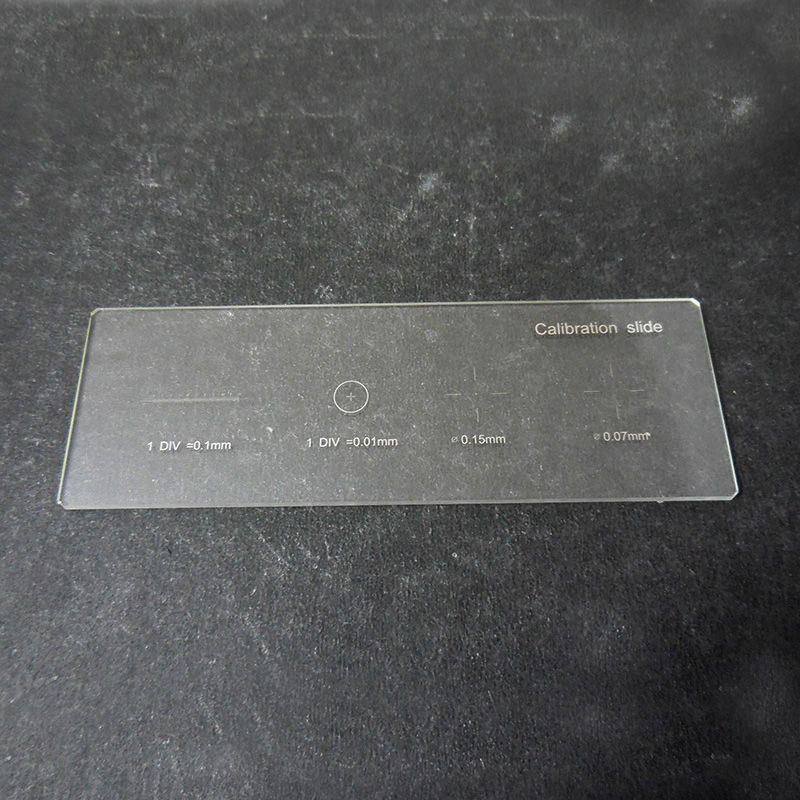 0.01mm Calibrate Microscope Slide Stage Micrometer Calibration With 4 Scales