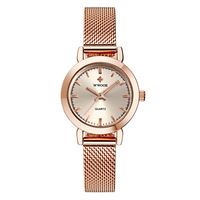 Genuine Lady's Fine Steel Mesh Quartz Watch Night light Waterproof Watch Women's Watch