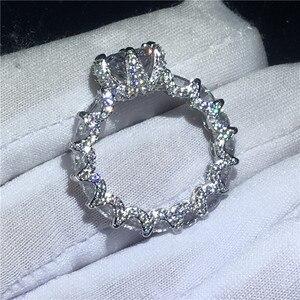 Image 3 - Choucong בציר פרח מבטיחים אצבע טבעת 925 סטרלינג כסף AAAAA cz אירוסין נישואים לנשים המפלגה תכשיטים