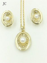 Fine Jewelry Sets For Women Wedding Accessories African Beads Crystal Pendant Statement CZ Diamond Dress Necklace Earrings