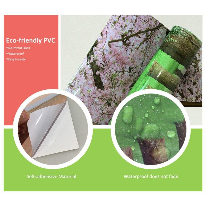 Купить с кэшбэком 3D Flooring Wallpapers Removable PVC Self Adhesive Wallpapers Bridge Photo Wall Papers Stickers Home Decor for Kids Living Room