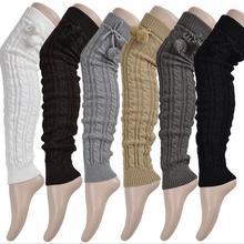 2016 Harajuku Женщины Гетры Твердые Гетры Крючком Трикотажные Длинные Гетры Бедро Высокие Теплые Носки Ботинок женщин