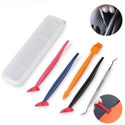 FOSHIO 5 PCS winylu owinąć samochód węgla Film rogu trzymać ściągaczka skrobak zestaw magnes uszczelki Micro Install Tool odcień okno narzędzia ręczne