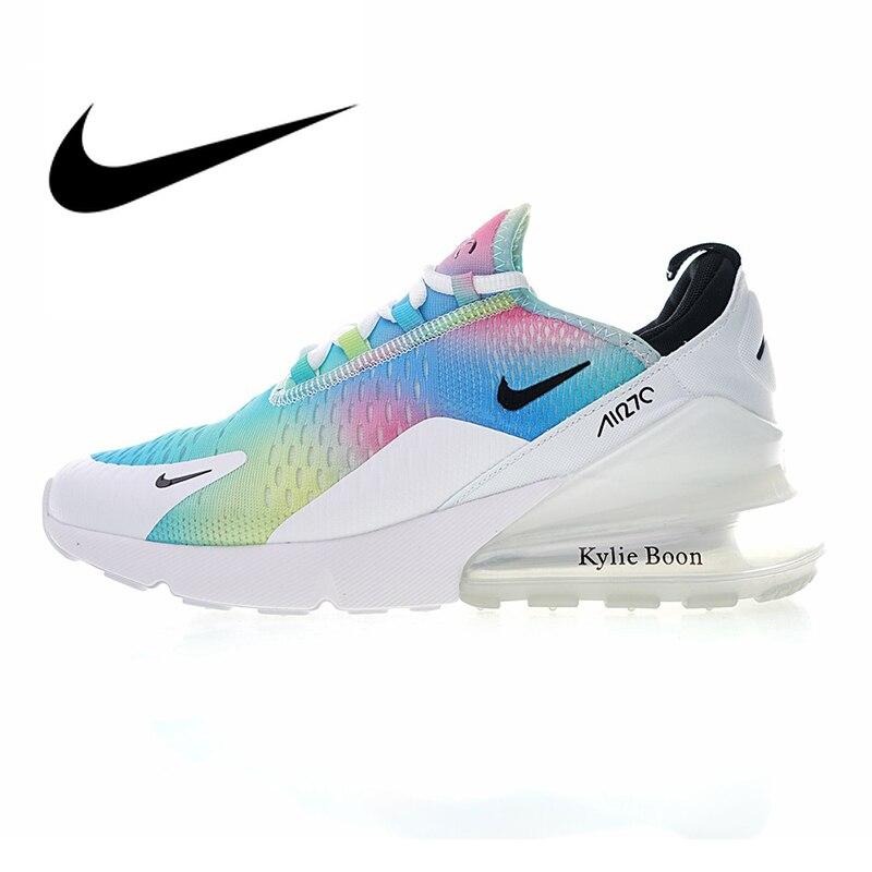 Original auténtico NIKE Air Max 270 zapatos de correr para mujer deporte al aire libre transpirables zapatillas de diseñador ligero duradero AH6789