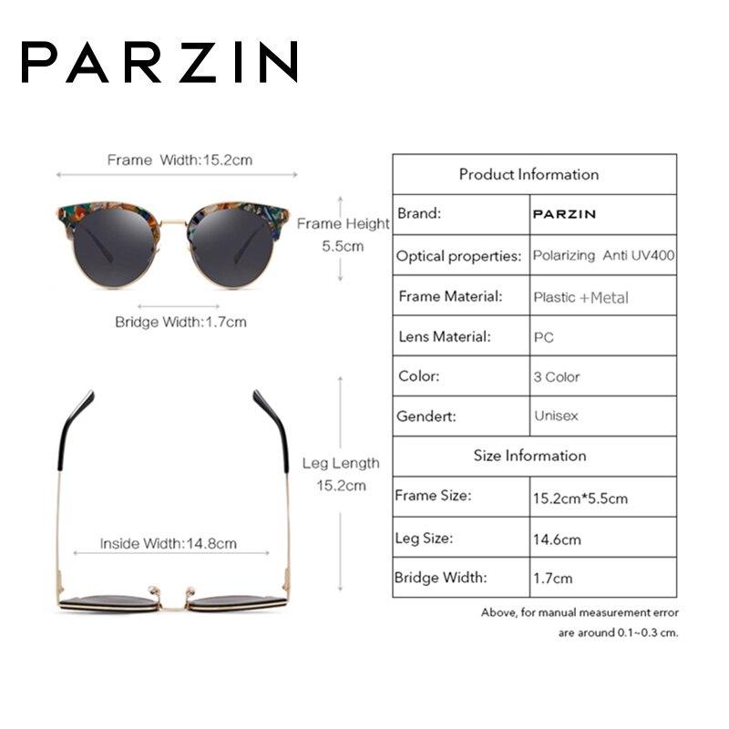 PARZIN Polarisierte Vintage Sonnenbrille Frauen Übergroßen Weiblichen Sonnenbrille Damen Fahren Anti Glare Gläser Zubehör 9652 - 4