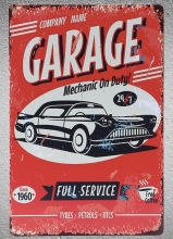1 pc Mechanic on duty Full Service car repair 24/7 Tin Plate Sign plaques Man cave vintage Shop store metal poster