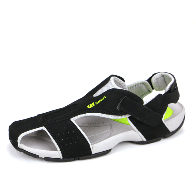 Casual Sandals Mens Toes Preventing Mens Leather Sandals Sport Close Toe Sandals-in Men's