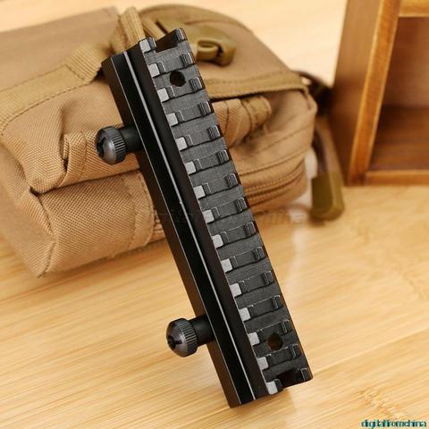Tactical de Alumínio Através do Riser Base de Montagem para 20mm Flat-top Âmbito Picatinny Ferroviário se Encaixa Caça ar m Série ou Plana Topos 3 – 4 Ver