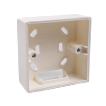 Allsome External Mounting Box 86mm*86mm*34mm for 86mm*86mm Standard Switches and Sockets Apply For Any Position of Wall Surface