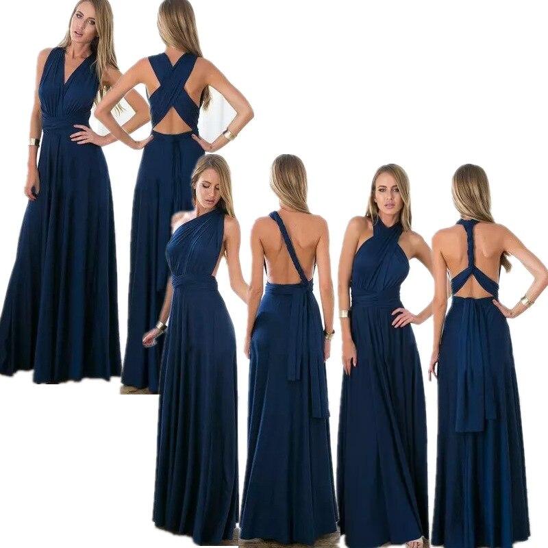 infinity dress lungo  Vestito FAI DA TE Stile Come Volete Europa moda sexy backless wrap ...