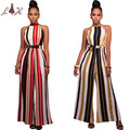 Hot sale women strapped jumpsuit  plus size romper fashion women 2 piece sets overalls