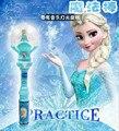 Light Up Brinquedos Crianças Elsa LED Varinha Mágica Música Cantar Deixá-lo ir Rainha da Neve do Gelo Brilho Led Brinquedos Juguetes Con Luces Levou Luz varas