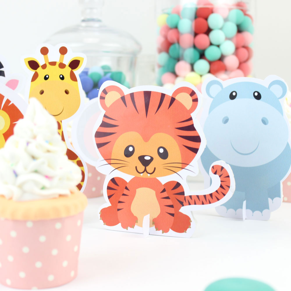 Safari Animal Party Decoración de mesa Tiger Table Centerpiece Kids - Para fiestas y celebraciones