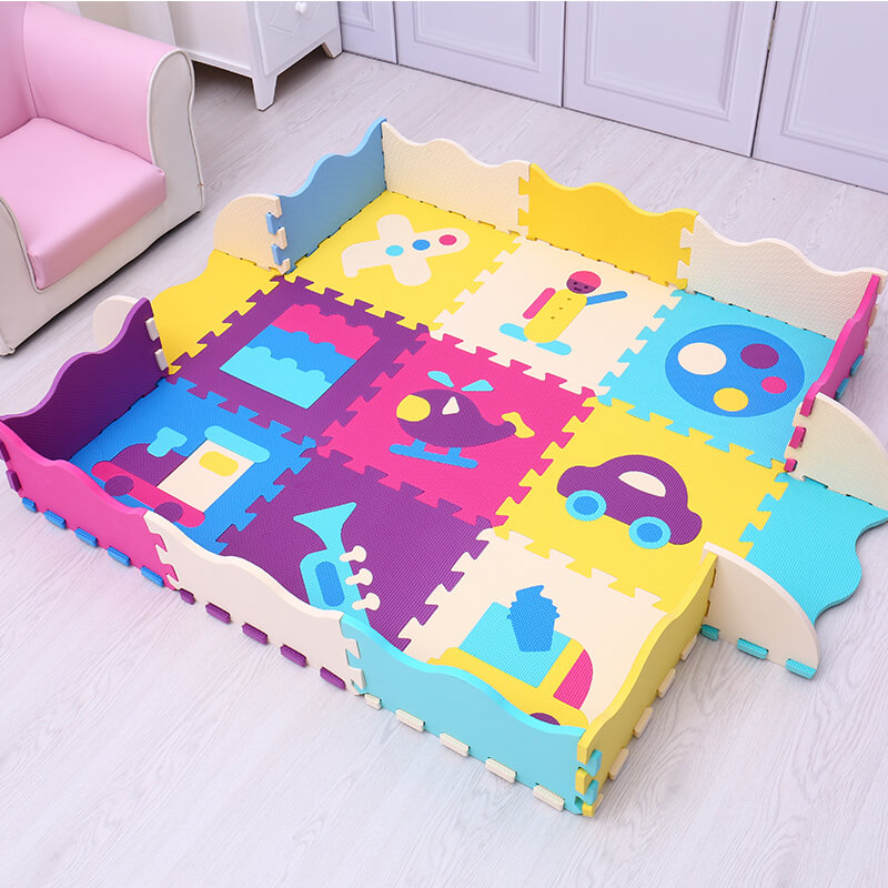 Mei Qi Cool EVA baby play mat foam puzzle carpet for children gym numbers animals toys baby activity soft floor