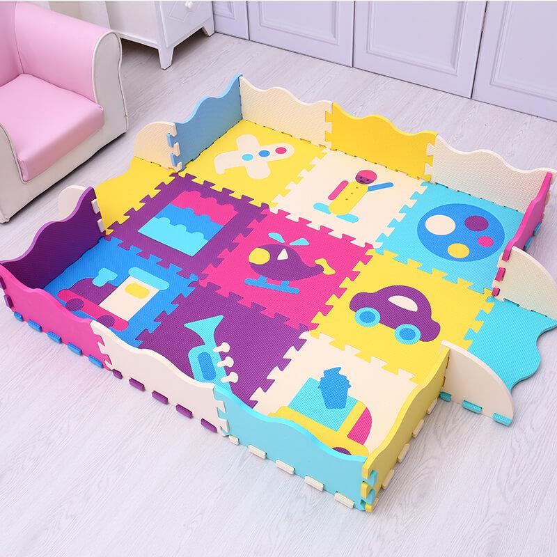 Mei Qi Cool EVA tapis de jeu pour bébé tapis de puzzle en mousse pour enfants numéros de gymnastique animaux jouets bébé activité sol souple