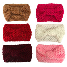 Crochet Knot Headband Baby Girl Winter Turban Head wrap Warmer Knitted Bow Hairband Hair Band Hair Bow Accessories 2019 brand new 3pcs stretchy twist knot bow head wrap headband twisted knotted cute hair band baby gifts