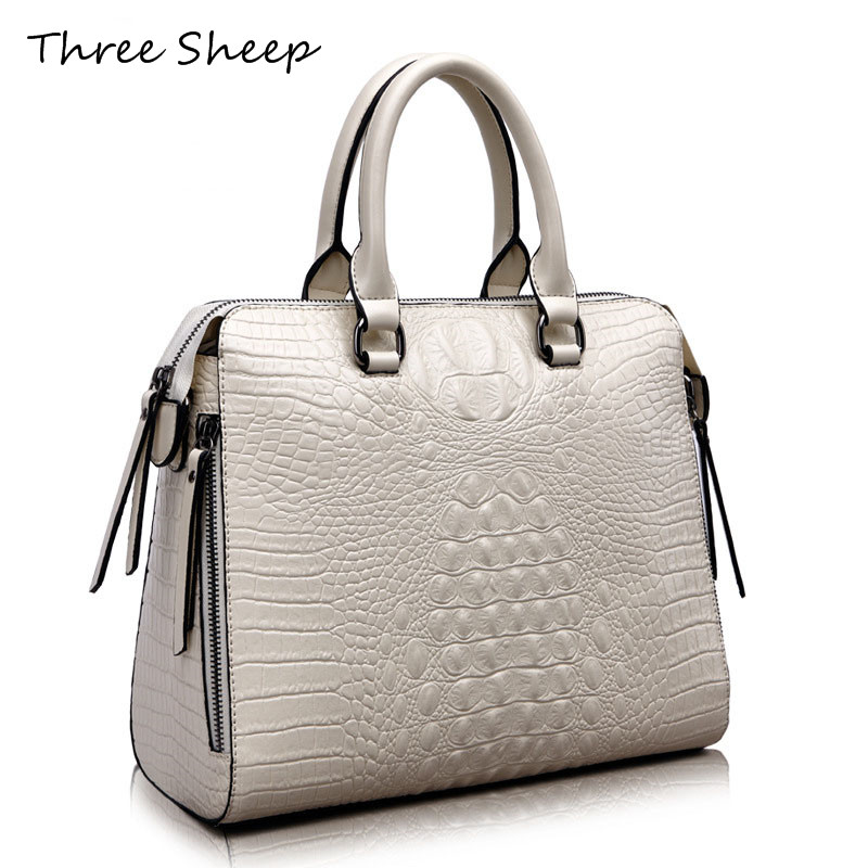 2017 Womens Designers Handbags Women Split Leather Handbag Crocodile Ladies Hand Bags Large Tote Bag Fringe Bag Sac a Main Femme hongu high grade leather handbags crocodile pattern large ladies hand bags luxury purse with shoulder strap sac a main femme