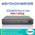 Металлический Корпус 5 в 1 DVR 8 Канала 4CH/8CH 1080N/960 P/720 P/960 H Чжиюань Чип NVR AHD-NH С Дистанционным Управлением Бесплатно доставка