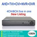 Caixa de metal 5 em 1 DVR 8 Canais 4CH/8CH 1080N/960 P/720 p/960 h nvr ahd zhiyuan chip-nh com controle remoto livre grátis