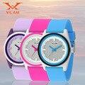 Спортивные часы для женщин Девушка мальчик дети спорт дети часы Желе Кварцевые Часы Водонепроницаемые Спортивные Наручные Часы Резиновые Наручные Часы