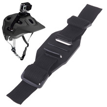 Mount Cycling Accessories Adjustable Helmet Strap for GoPro Hero 7 5 6 4 Session SJCAM SJ4000 SJ 5000 Yi 4K h9 Go Pro(China)