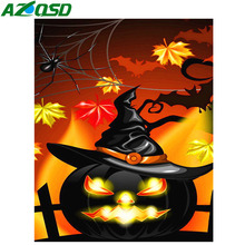 AZQSD Diamond Painting Cartoon Wall Decoration Embroidery Sale Pumpkin Full Drill Rhinestones Pictures Display