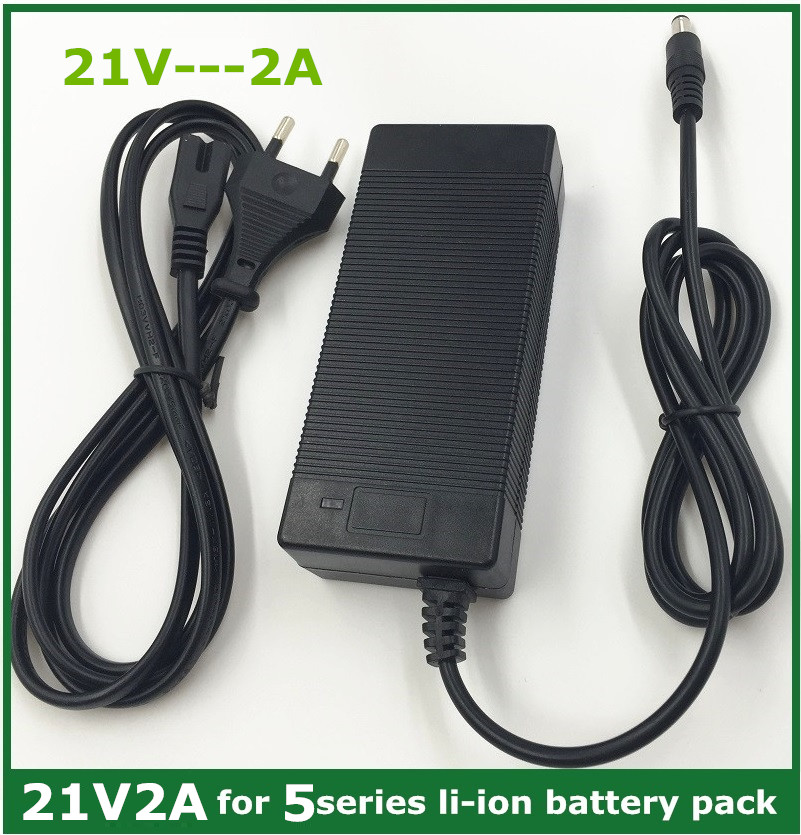 21v2a lithium battery charger 5 Series 100-240V 21V 2A battery charger for lithium battery with LED light shows charge state ac battery charger cradle for sanyo dbl20 digital camera battery 100 240v