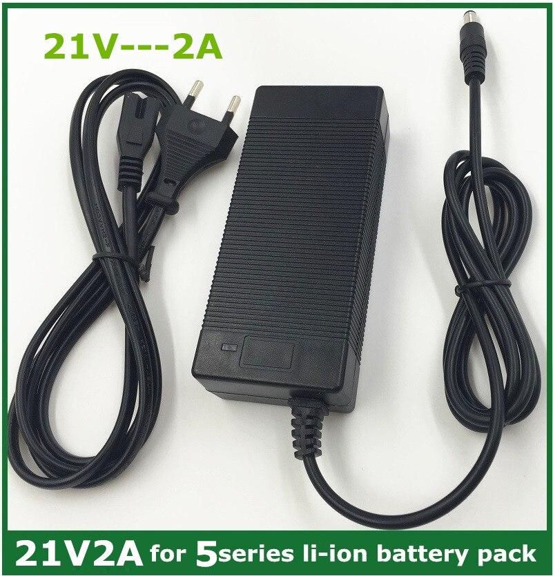 Cargador de batería de litio 21v2a serie 5 100-240 V 21 V 2A cargador de batería para batería de litio con luz LED muestra estado de carga