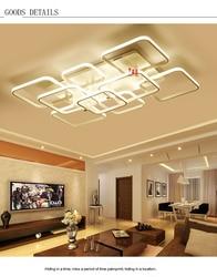 Kemasi prostokąt nowy aluminium salon sypialnia nowoczesne lampy sufitowe led luminarias para sala biały kolor led lampa sufitowa w Oświetlenie sufitowe od Lampy i oświetlenie na