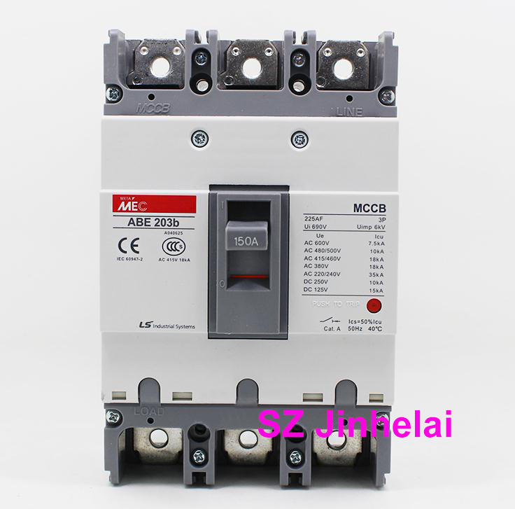 ABE203b Authentic original ABE 203b LS Molded case circuit breaker ABE-203B Air switch 3P 100A/125A/150A/175A/200A/225A easypact cvs160b ma 3p lv516430 3p 100a lv516431 3p 150a