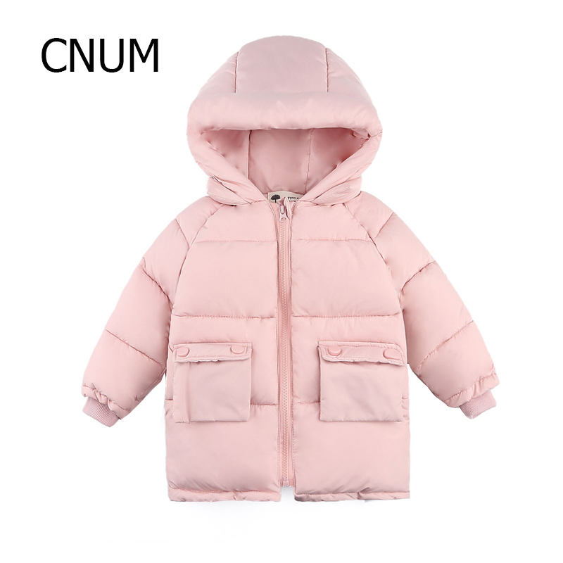 CNUM Winter Baby Girls Coat Hooded Padded Jackets Warm Kids Clothing Outerwear Girls Clothes Outfits Parkas Cotton Down Wear 2017 new fashion girls winter warm coat kids jacket hooded snow wear cotton down outerwear girl solid color winter clothes