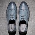 Bullock Tallado hombres Zapatos Mocasines Planos de Los Hombres de Alta Calidad de Estilo Británico de La Vendimia Ocasional Con Cordones de Zapatos de Los Hombres de Negocios