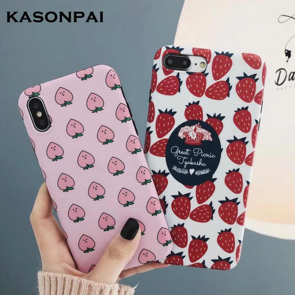 Lovely Peach Fruits Phone Cases For Huawei P20 P30 Pro Mate 10 20 Pro Nova 4 3 3i 2S P10 Plus Honor 10 9 Cute Soft Cover Case