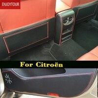 Car Pads Front Door Seat Anti Kick Mat Accessories For Citroen C5 C2 C Triomphe C