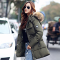 New Fashion Winter Jacket Women Large Faux Fur Collar Hooded Jacket Thick Coat For Women Outwear Parka