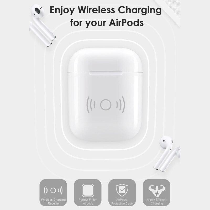Wireless Charging Receiver Fall Für Apple Airpods QI Standard Airpods Wireless Receiver Kompatibel Mit Jedem Wirless Ladegerät