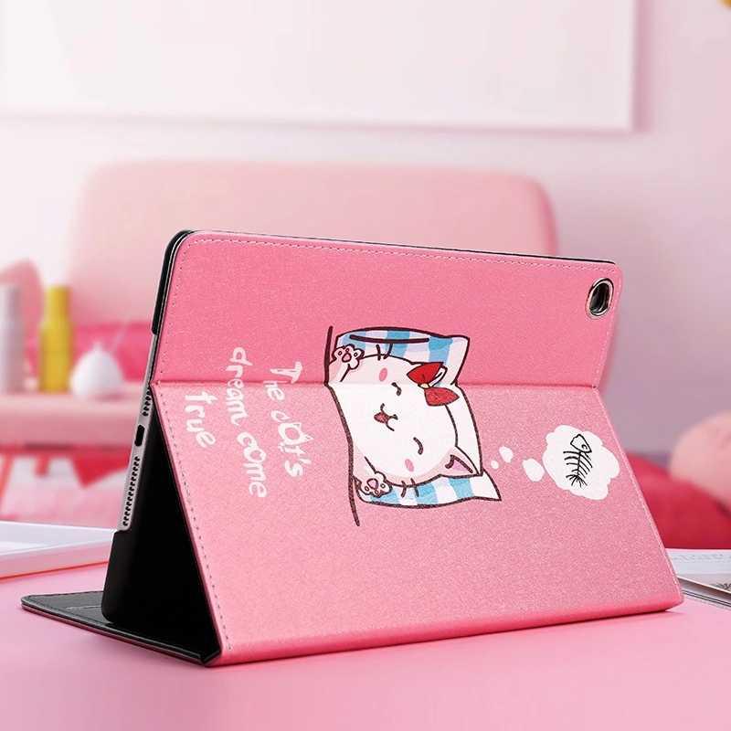 لطيف القط و الكلب نمط لينة حافظة لجهاز iPad الهواء 1/2 جديد باد 9.7 الواقف الترا سليم غطاء لباد mini12345 السيارات الاستيقاظ/النوم