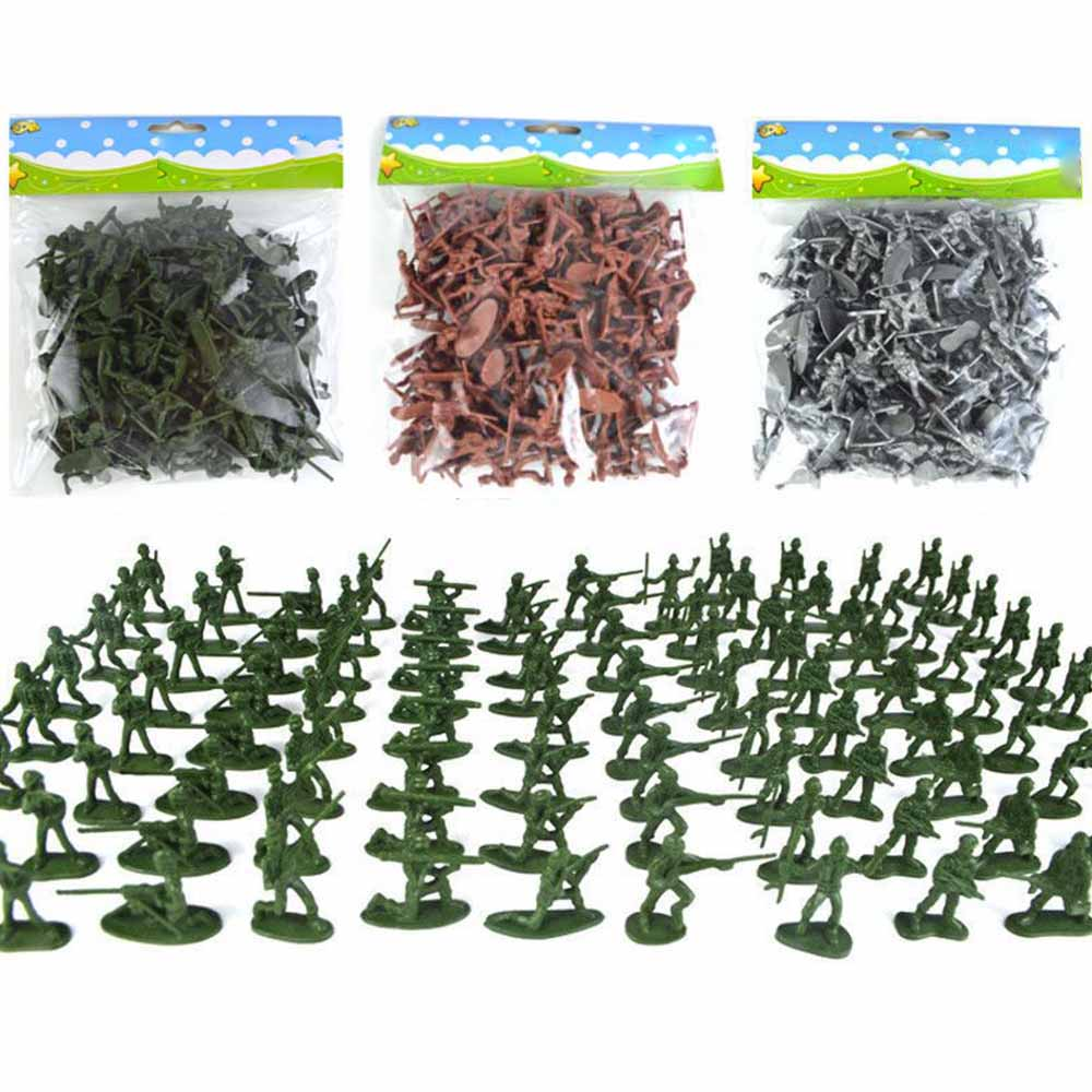 100pcs/Pack Mini Soldier Model Military Plastic Toy Soldier Army Men Figures Playset
