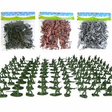 100pcs/Pack Mini Soldier Model Military Plastic Toy Soldier Army Men Figures Playset Kit Gift Model Toy For Kids Boys(China)