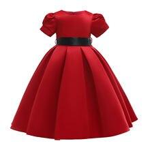 2019 детские платья до середины икры для девочек элегантное
